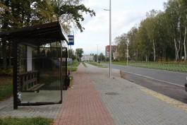 На улицах Калининграда установили 17 новых остановочных павильонов