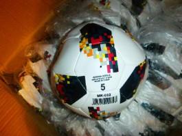 В регион пытались ввезти 900 контрафактных мячей под брендом Adidas