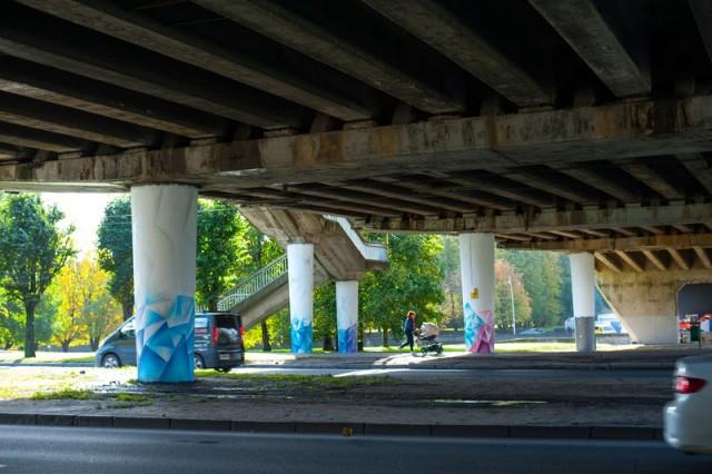 Под эстакадным мостом в Калининграде установят сетку для защиты пешеходов