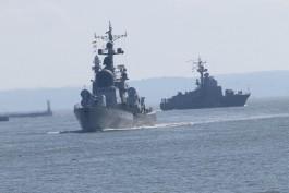 Корабли Балтфлота проведут стрельбы в морских полигонах