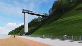 Власти выдали разрешение на строительство лифта на променад в Светлогорске