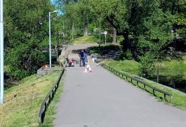 В Калининграде закрыли на ремонт дамбу на Нижнем озере