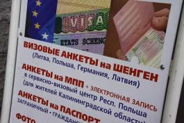 С февраля немецкие визы в Калининграде будет выдавать другой центр