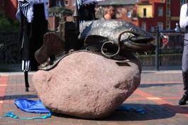 На берегу Преголи в Калининграде открыли памятник сому