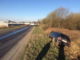 На трассе Калининград — Полесск «Фольксваген» врезался в автобус и съехал в кювет