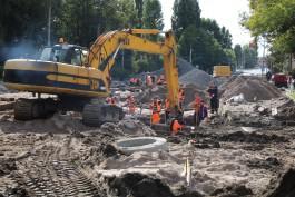 При ремонте улицы Киевской в Калининграде обнаружили «неприятные сюрпризы»