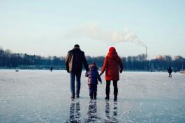 Мэрия предупреждает об опасности выхода на лёд в Калининграде