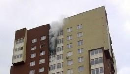 На улице Челнокова в Калининграде произошёл пожар в многоэтажке
