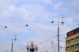 Над центром Калининграда пролетели 20 военных вертолётов и самолётов