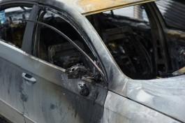 Ночью в Калининграде сгорели два автомобиля