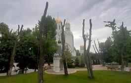 Возле храма на площади Победы в Калининграде вырубят 11 деревьев