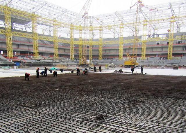 Настадионе вКалининграде готово основание поля