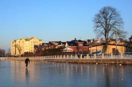 Власти Калининграда: Выход на лёд городских водоёмов опасен для жизни