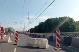 На эстакадном мосту в Калининграде перекрыли часть дороги из-за ремонта
