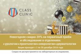 Новогодняя скидка 20% на приём и обследование у опытного дерматолога
