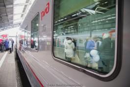 В октябре и ноябре временно изменят расписание поезда Санкт-Петербург — Калининград