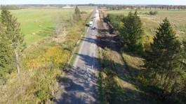 Дорожники показали ремонт двух трасс в Калининградской области с квадрокоптера
