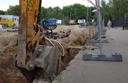 «Водоканал» заменит более 300 метров водовода на улице Киевской в Калининграде