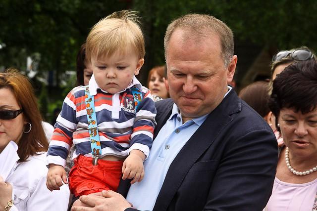 Николай Цуканов с сыном Колей, 2013 год