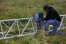 В Мамоновском округе установили 80-метровую вышку для измерения скорости ветра