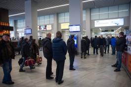 Утренний рейс из Калининграда в Москву задерживается на несколько часов