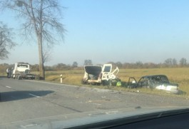 Под Багратионовском две машины вылетели в кювет после ДТП