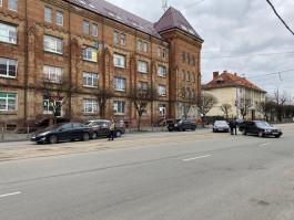 На полупустой улице Черняховского в Калининграде произошло два ДТП в одно время