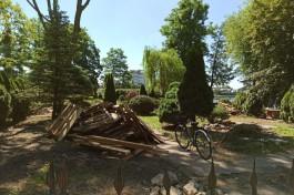 Собственник начал расчистку территории вокруг кафе «Причал» на Верхнем озере в Калининграде