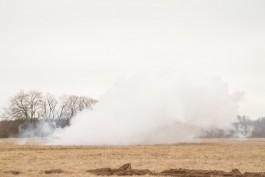 За сутки пожарные 12 раз выезжали тушить горящую траву в регионе