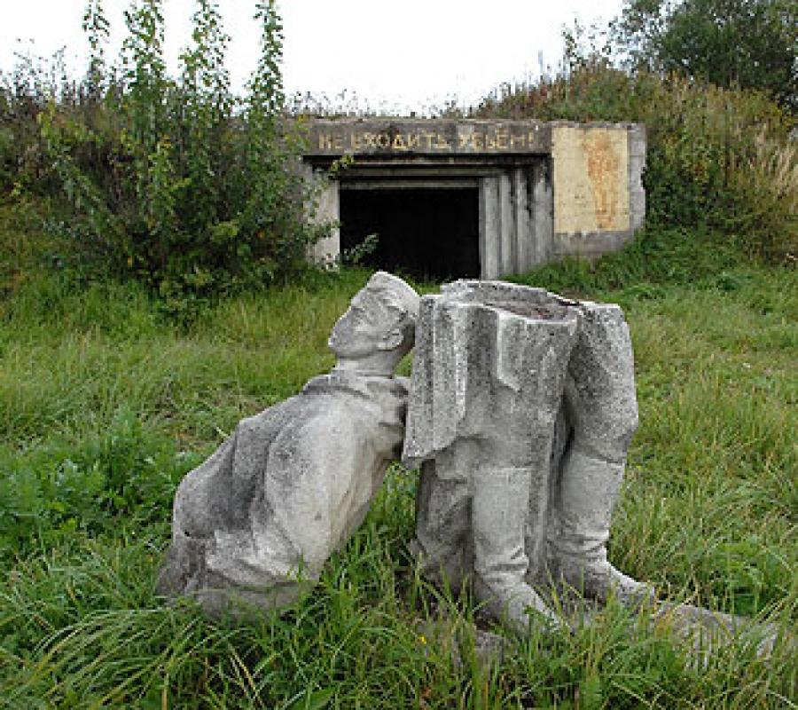 Братская могила советских воинов, погибших в октябре 1944 года