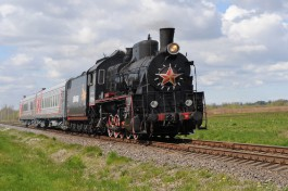Ретропаровоз выполнил первый рейс из Калининграда в Советск