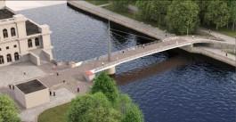 В Калининграде представили концепцию нового пешеходного моста от бывшего ДКМ на остров Канта