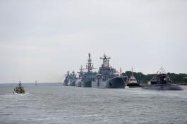 Корабли Балтфлота начали выстраивать к параду в честь Дня ВМФ