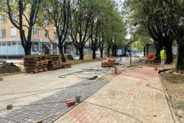 Окончание благоустройства улицы Соммера в районе «Янтарной шкатулки» перенесли на конец сентября