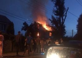 Полиция задержала 50-летнего калининградца, который поджёг дом матери на ул. Емельянова