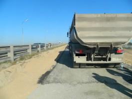 На Южном обходе грузовик сбил пешехода на стройплощадке