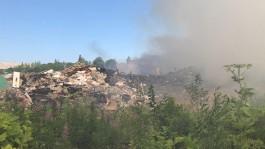 Росприроднадзор проводит проверку после пожара на полигоне ТКО в Калининградской области