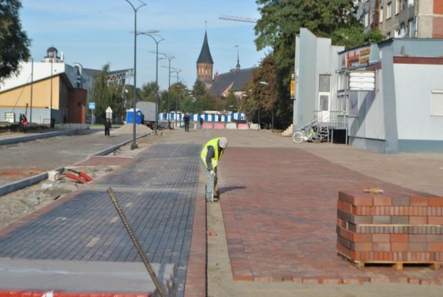 Отставание реконструкции Солнечного проспекта вКалининграде сокращено до5 дней