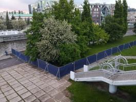 Часть острова Канта в Калининграде огородили для строительства нового моста