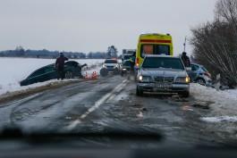 В Правдинском округе лоб в лоб столкнулись «Пежо» и «Ауди»: водители в реанимации