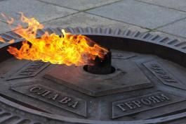 Дети засыпали песком Вечный огонь в Чкаловске