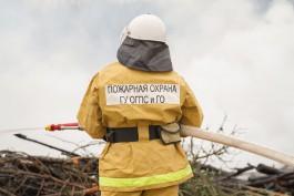 На окраине Калининграда сгорела баня