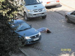 В Калининграде внедорожник «Тойота» сбил кондуктора автобуса (фото)
