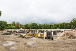 В Южном парке Калининграда началось строительство 50-метрового бассейна