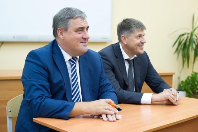 Мэр Алексей Силанов и глава Горсовета Андрей Кропоткин