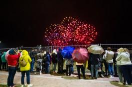 «Шоу под дождём»: как прошёл второй день чемпионата мира по фейерверкам в Калининграде