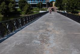 Силанов поручил восстановить потрескавшееся покрытие на белых мостах Нижнего озера