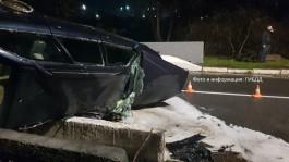 В Мамоново перевернулась и загорелась «Ауди»: пострадало пять человек
