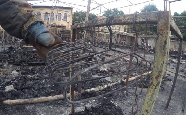 ВЧерняховске произошёл сильный пожар на основном рынке