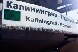 С 19 сентября возобновляют движение автобусов Калининград — Гданьск